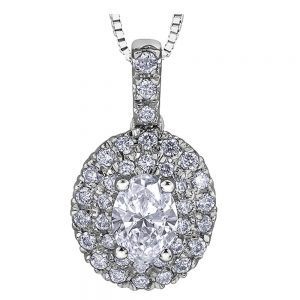 Drakes Jewellers Plymouth, Diamond Gift, Gift For Her, Special Occasion Gift, Oval Diamond Pendant necklace