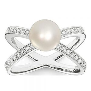 Drakes Jewellers Plymouth, Thomas Sabo Jewellery, Gift For Her, Gift For Him, silver pearl ring
