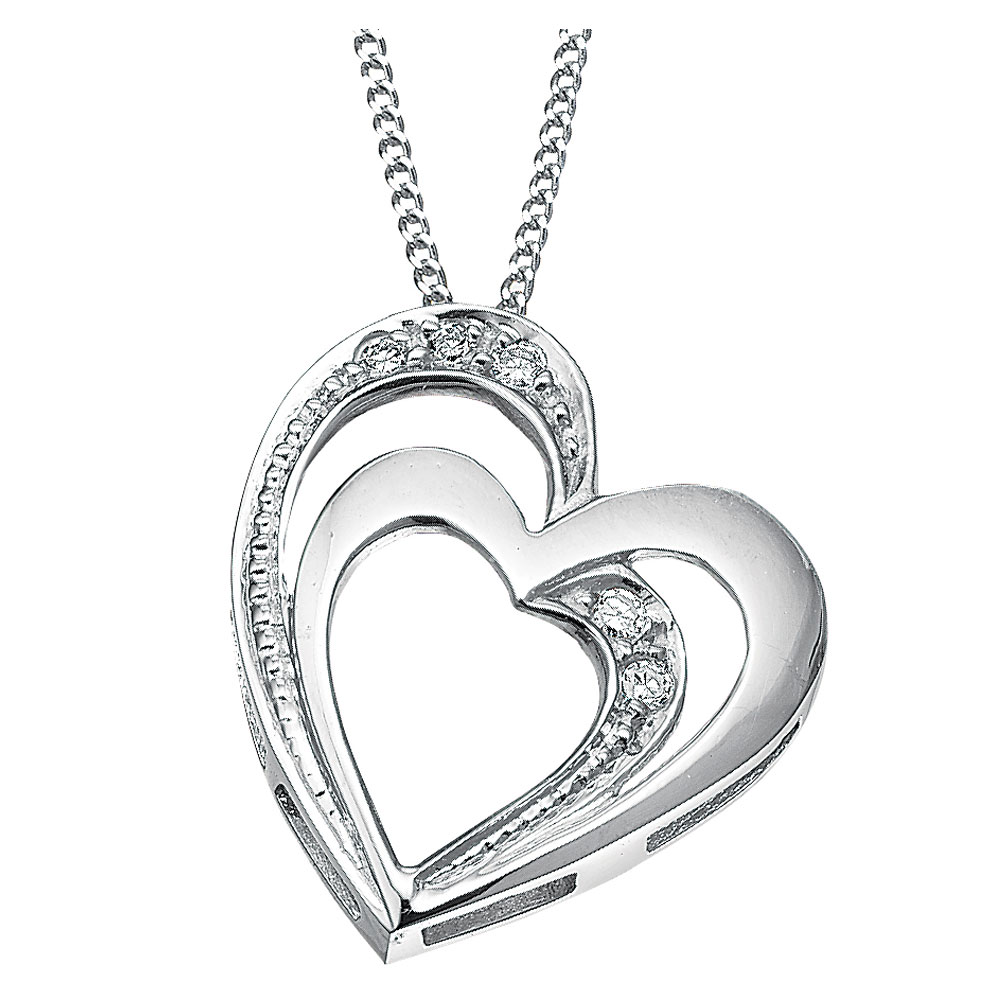 Drakes Jewellers Plymouth, Diamond Gift, Gift For Her, Special Occasion Gift, heart necklace