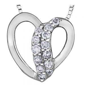 Drakes Jewellers Plymouth, Diamond Gift, Gift For Her, Special Occasion Gift, diamond heart pendant