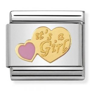 Drakes Jewellers Plymouth, Nomination Jewellery, Gift For Her, Gift For Him, new baby girl charm
