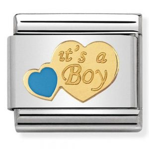 Drakes Jewellers Plymouth, Nomination Jewellery, Gift For Her, Gift For Him,its a boy heart charm