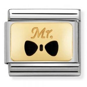 Drakes Jewellers Plymouth, Nomination Jewellery, Nomination Charm, Gift For Her, Gift For Him, mr bow charm