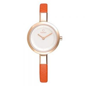 Drakes Jewellers Plymouth, Obaku Watch, Gift For Her, Gift For Him, Watch Gift, orange and gold watch