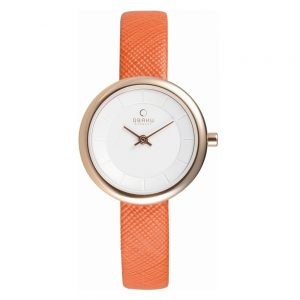 Drakes Jewellers Plymouth, Obaku Watch, Gift For Her, Gift For Him, Watch Gift, orange watch