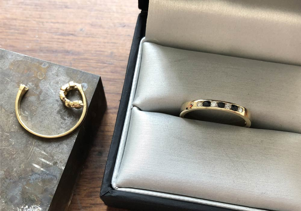 Repaired and Remodelled Eternity Ring, Drakes Jewellers Plymouth, Gold, We buy your Gold
