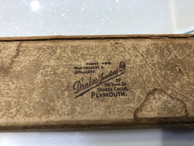 Original Watch Box, Drakes Jewellers, Plymouth, Jewellers, Plymouth