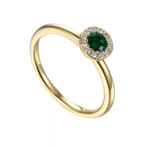Emerald and Diamond Ring, Emerald Ring, Jewellers Plymouth