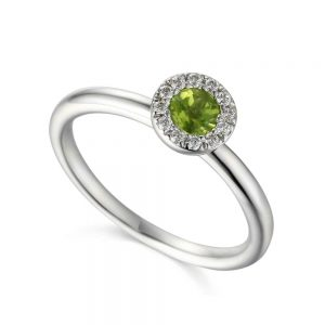 Diamond and Peridot Ring, Peridot Ring, Drakes Jewellers, August Birthstone, Jewellers Plymouth
