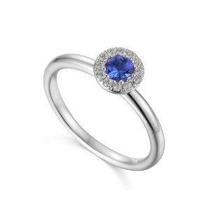 Tanzanite Ring, Drakes Jewellers, Tanzanite and Diamond Ring, December Birthstone