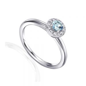 Aquamarine, Drakes Jewellers, Aquamarine and Diamond Ring, White Gold Aquamarine Ring, March Birthstone ring