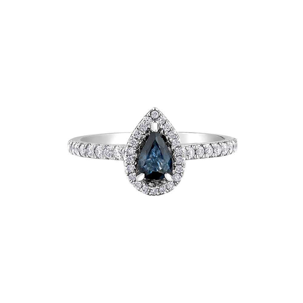 Sapphire and Diamond Ring, Sapphire Ring, Sapphire White Gold Ring, White Gold Gemstone Ring, Drakes Jewellers, Plymouth