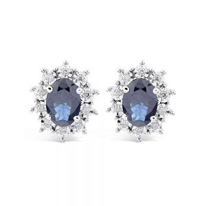 Diamond and Sapphire, Diamond Earrings, Sapphire Earrings, Jewellers, Plymouth