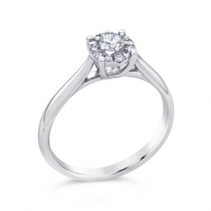 9ct White Gold Diamond Ring, Drakes Jewellers, Plymouth, Engagement Ring, Diamond Starlight Ring