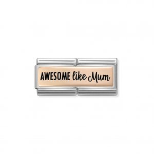 Awesome like mum charm, Nomination Charm, Nomination Mother's Day Charm