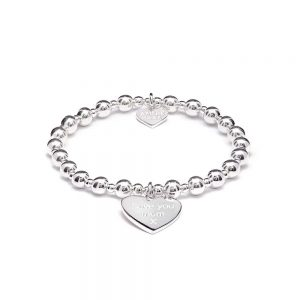 Annie Haak Orchid Silver Charm Bracelet - Love you mum x , Bracelet, Annie Haak Bracelet, Love you Mum, Mother's Day