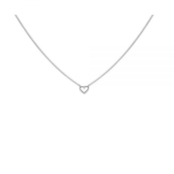 Open Heart Sterling Silver Chain Necklace