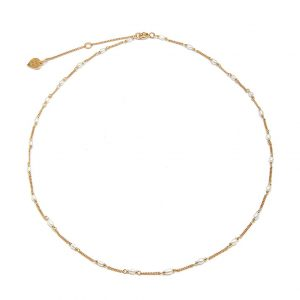 Annie Haak Gold Pearl Necklace, Dainty Necklace, Annie Haak Necklace, Jewellers, Plymouth