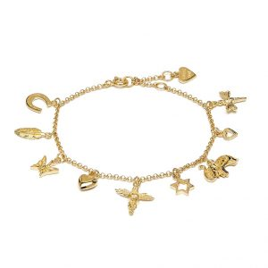 Annie Haak Multi Charm Gold Bracelet, Jewellers, Plymouth, Annie Haak Necklace, Jewellers, Plymouth